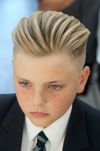 Blonde Swept Back Hairstyles #boyshaircuts #haircuts #hairstyles
