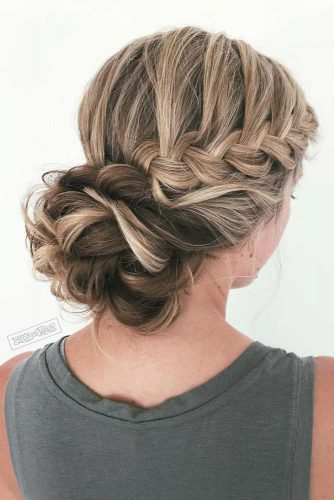 Side Braided Bun Romantic Style picture 1