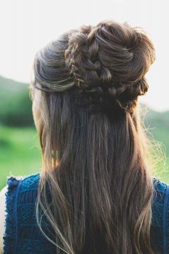 Lovely Half Braided Buns picture 3