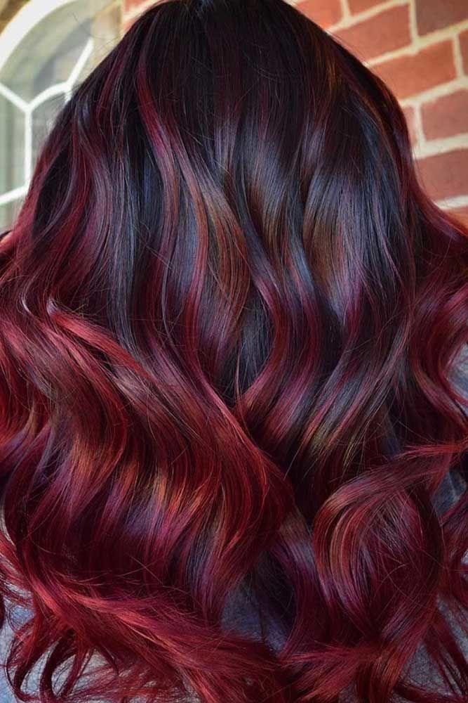 Burgundy Balayage #burgundyhair #haircolor