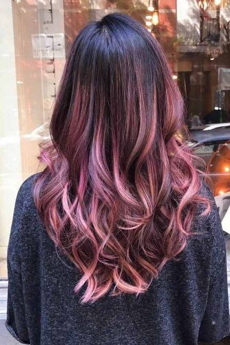 Flaming Burgundy Curls