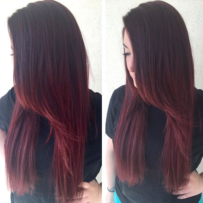 Dark Burgundy Hair Ombre