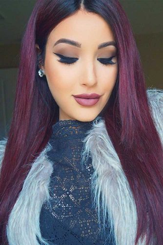 Deep Burgundy Hair