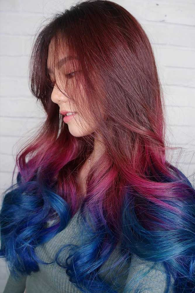 Harley Quinn Burgundy Hair Ombre