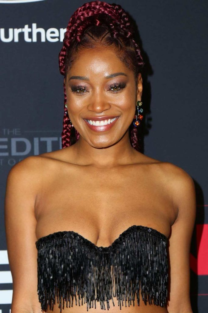 Keke Palmer's Dark Raspberry Braids #burgundyhair #braidstyle