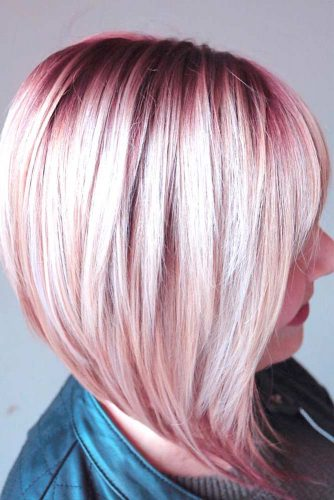 Burgundy Ombre Short Hair