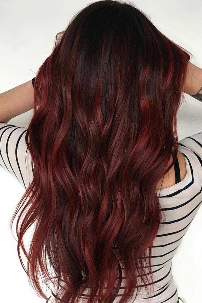 Maroon Hair Ombre