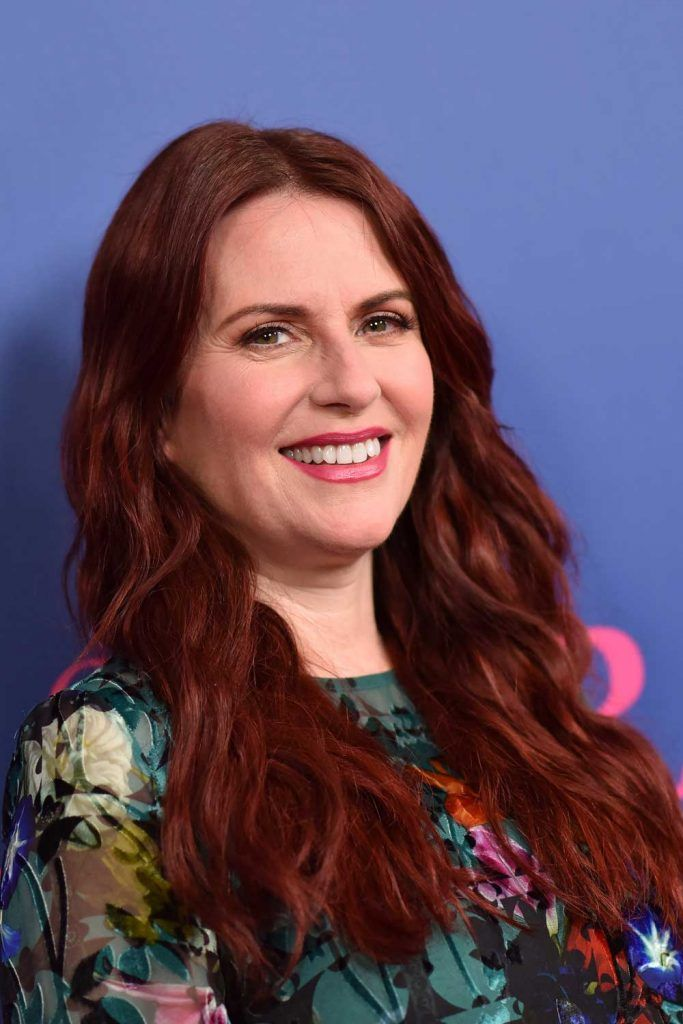 Dark Burgundy for Megan Mullally #burgundyhair #longhair