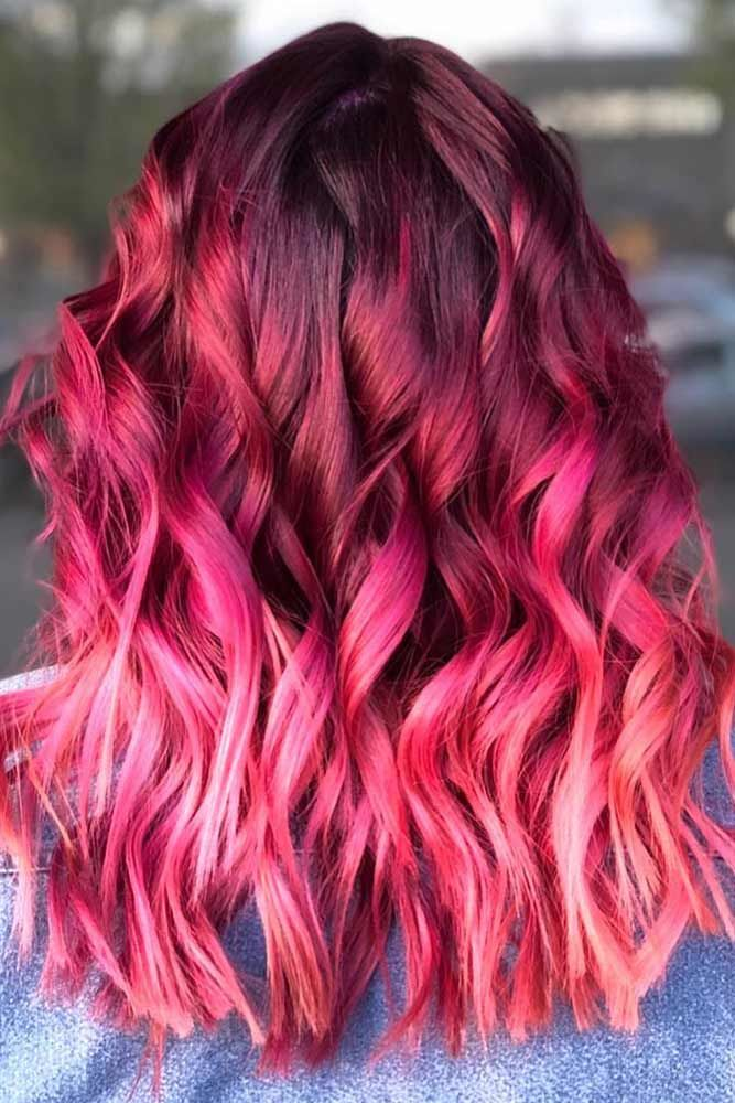 Shades Of Burgundy Ombre #redhair #ombre
