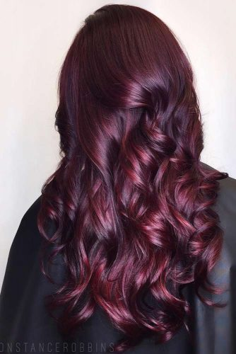 Crimson Curls with a Hint of Purple
