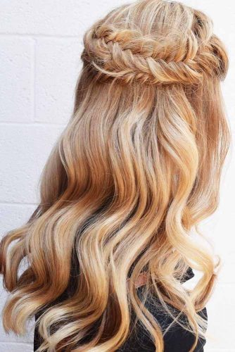 Fantastic Half-Up Half-Down Braided Hairdo picture 1