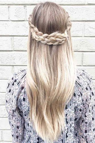 Fantastic Half-Up Half-Down Braided Hairdo picture 3