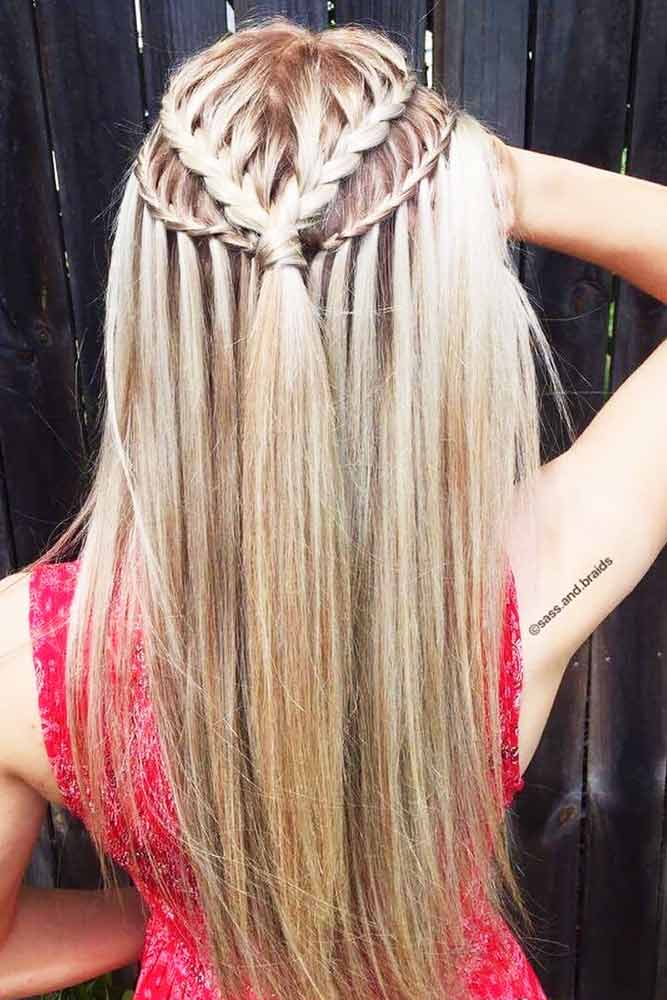 Super Easy Waterfall Braids picture 2