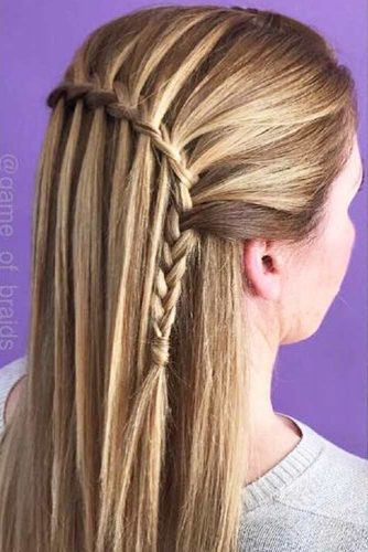 Super Easy Waterfall Braids picture 3