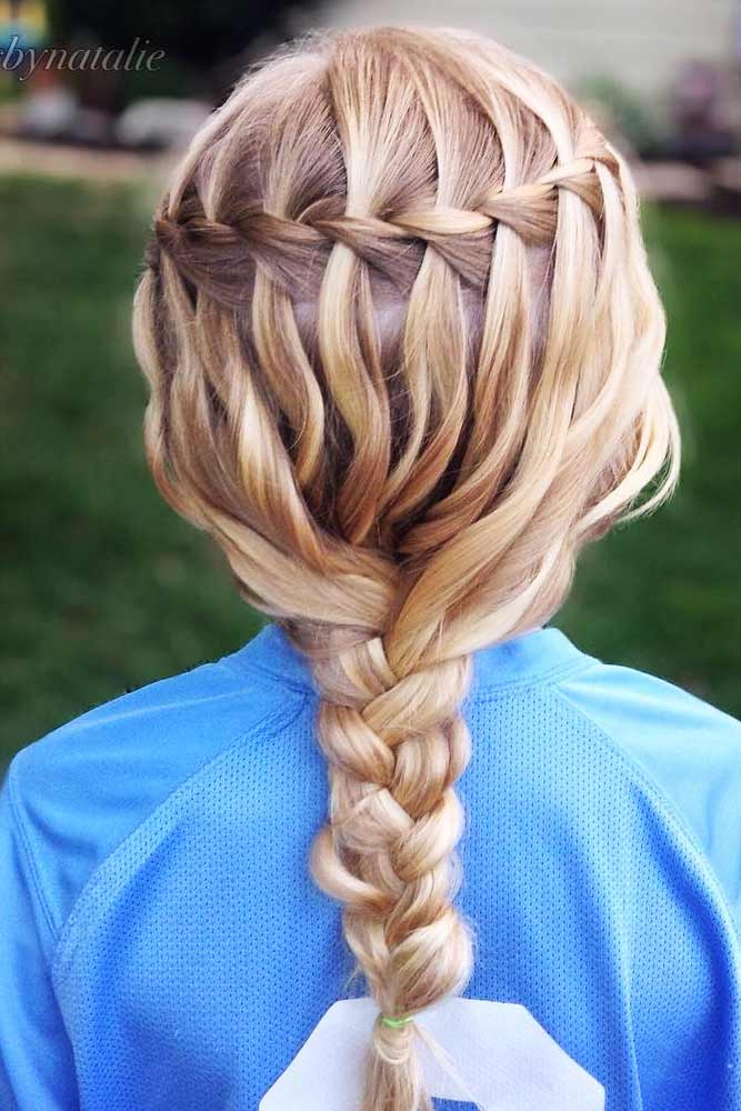 Super Easy Waterfall Braids picture 1