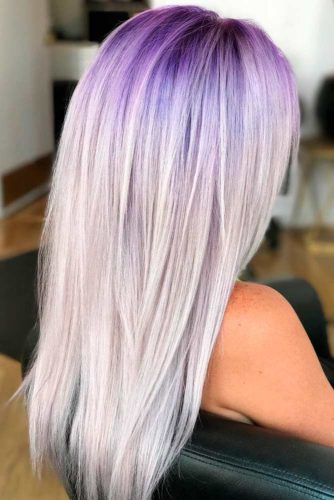 Grey and Purple Balayage