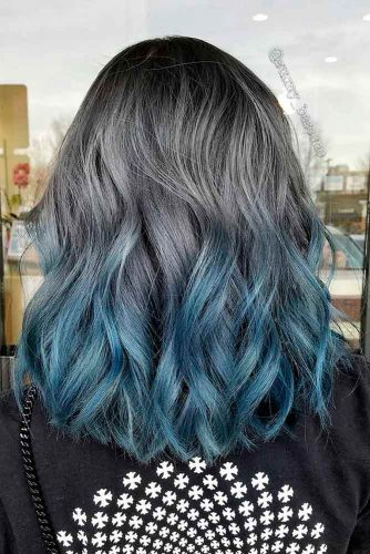 Graphite to Deep Blue Ombre