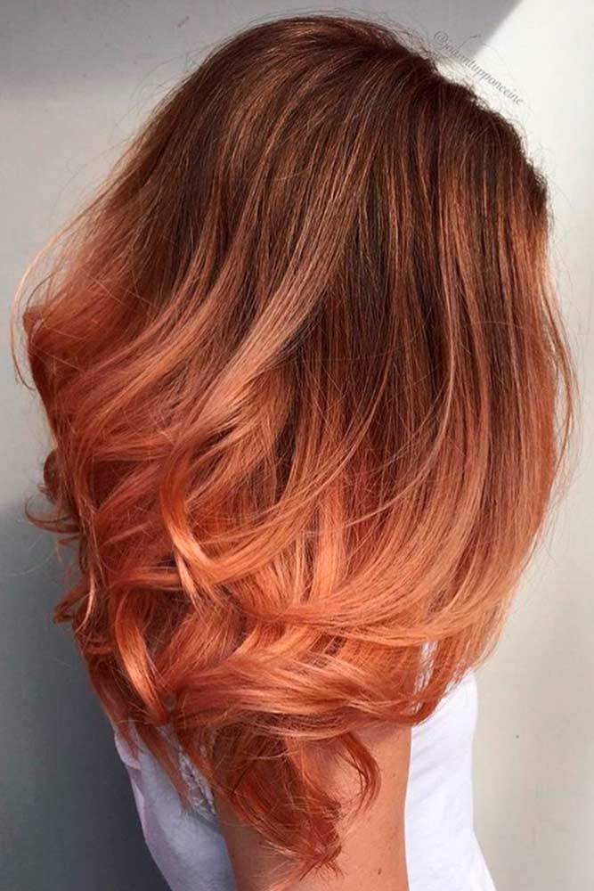 Peach Ombre Hair Looks picture1