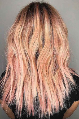 Coral Balayage #peachhair #rosegoldhair #coralhair