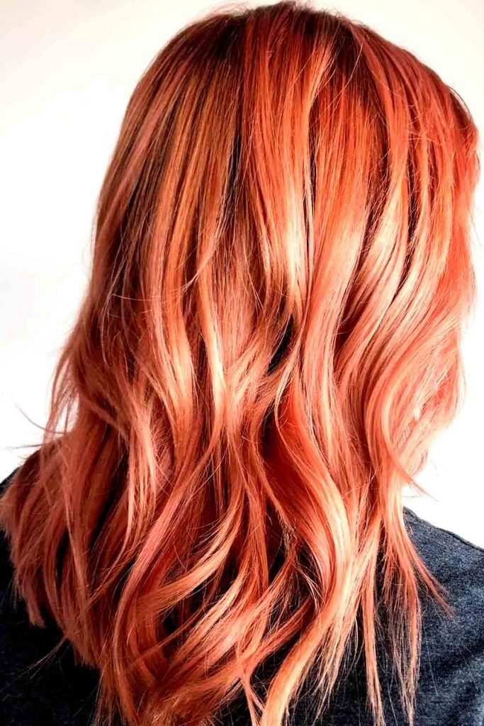 Saturated blorange hair color
