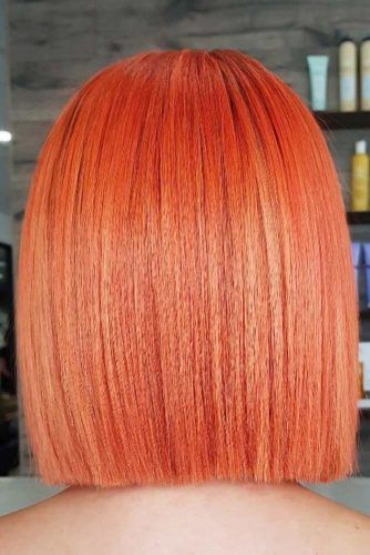 All Over Peach Shades Bob #peachhair