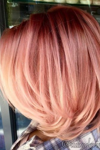 Rose Shades for Peach Hair Color picture2