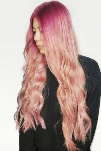 Light Peachy Ombre Looks Fuchsia #peachhair