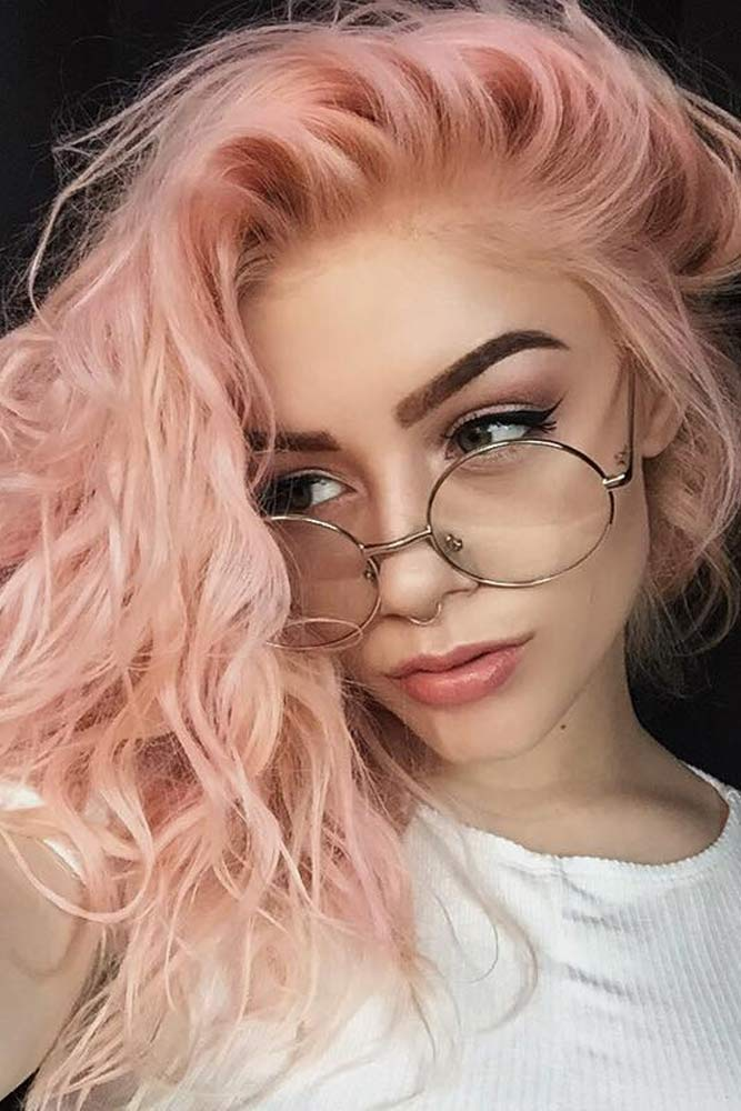 Rose Shades for Peach Hair Color picture1