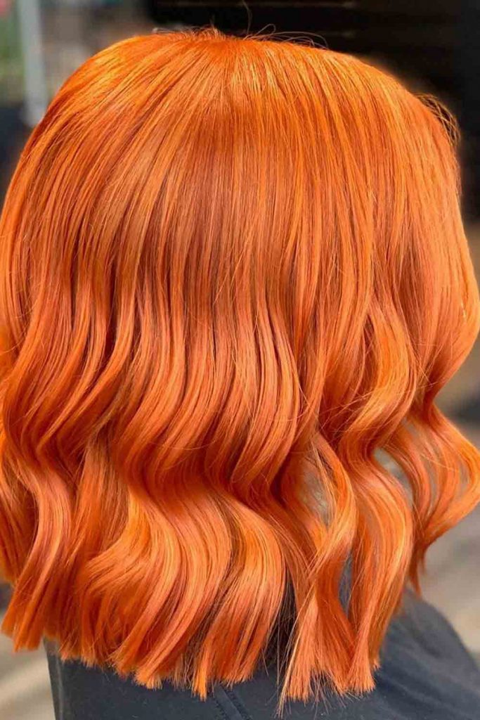 Medium haircut with blorange color look amazing