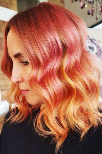 Pink & Peach Ombre #peachhair