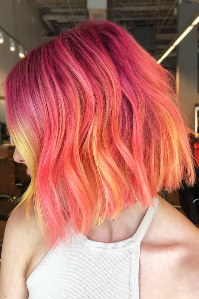 Pink & Peach Highlights #peachhair