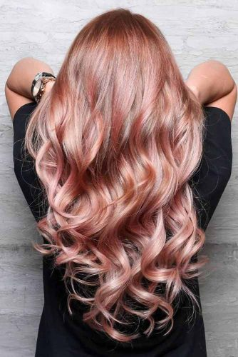 Rose Shades for Peach Hair Color picture3