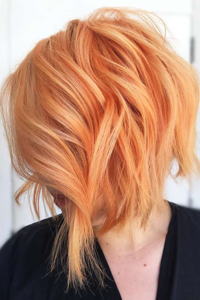 All Over Peach Shades Layers #peachhair