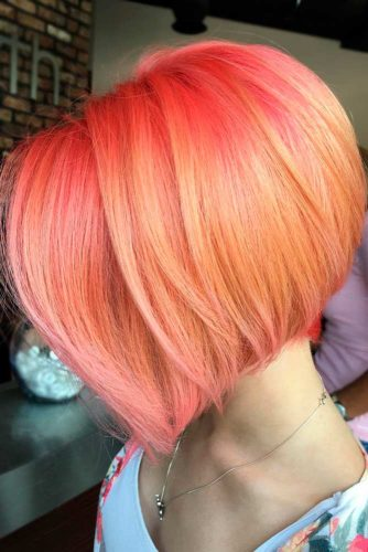 Stylish Short Peach Hair Color Ideas picture3