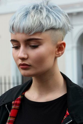 Blonde Bowl Cut