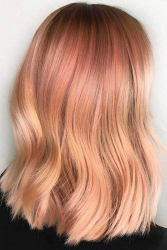 Strawberry Blonde Ombre Hair Waves #strawberryblonde #blondehair