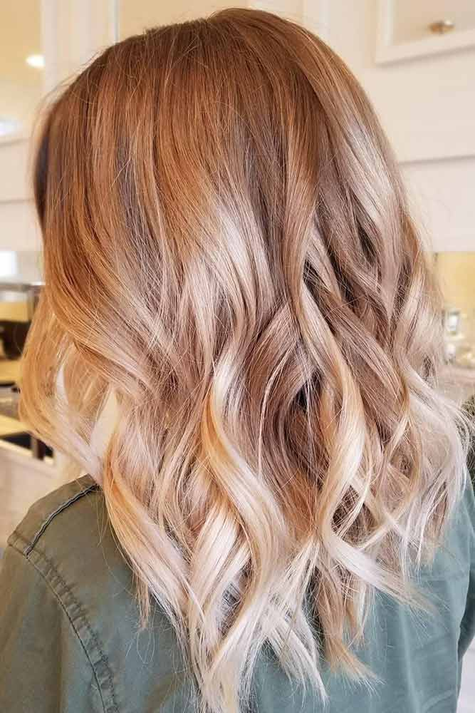 Copper Strawberry Blonde Ombre Fade #blondehair #redhair #ombre
