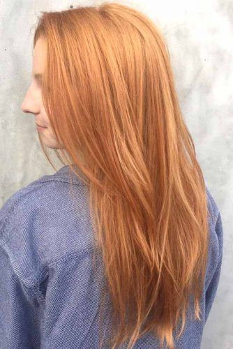 All Over Strawberry Blonde Layers #strawberryblonde #blondehair