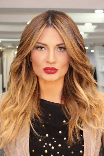 Strawberry Blonde Ombre Hair #strawberryblonde #blondeombre #ombrehair #layeredhair