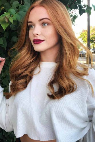 Dark Strawberry Blonde Highlights #strawberryblonde #blondehighlights #longhair