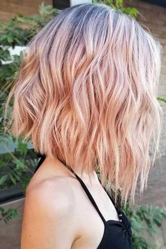 Pastel Strawberry Blonde Waves #strawberryblonde #blondehair