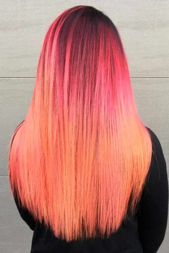 Pink to Bright Strawberry Ombre