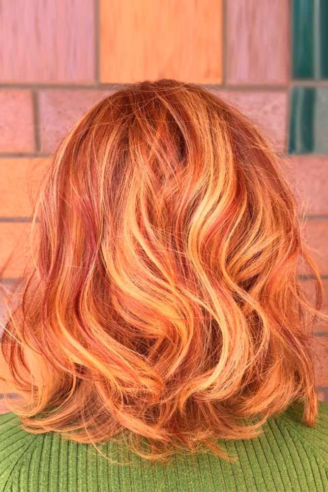Dark Red with Golden Blonde Tips