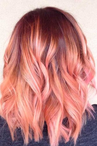 White Gold and Strawberry Blonde Balayage