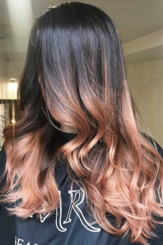 Strawberry Blonde Ombre Hair Black #strawberryblonde #blondehair