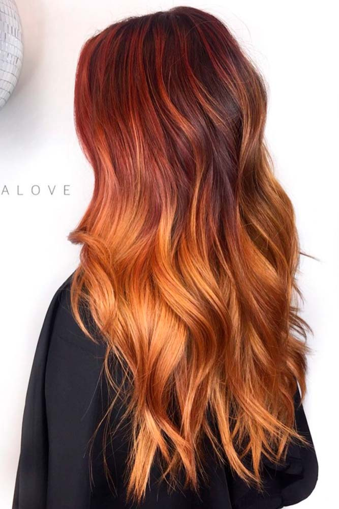 Reddish Brown with Warm Blonde Tones