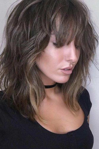 Layered Hair with Wispy Bangs picture3