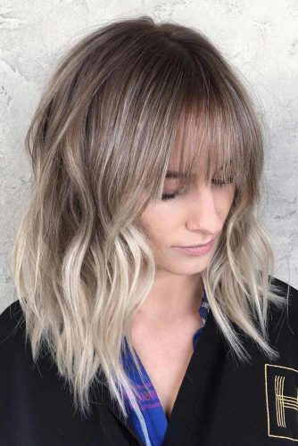Round Face Layered Hair With Bangs Long Length 18