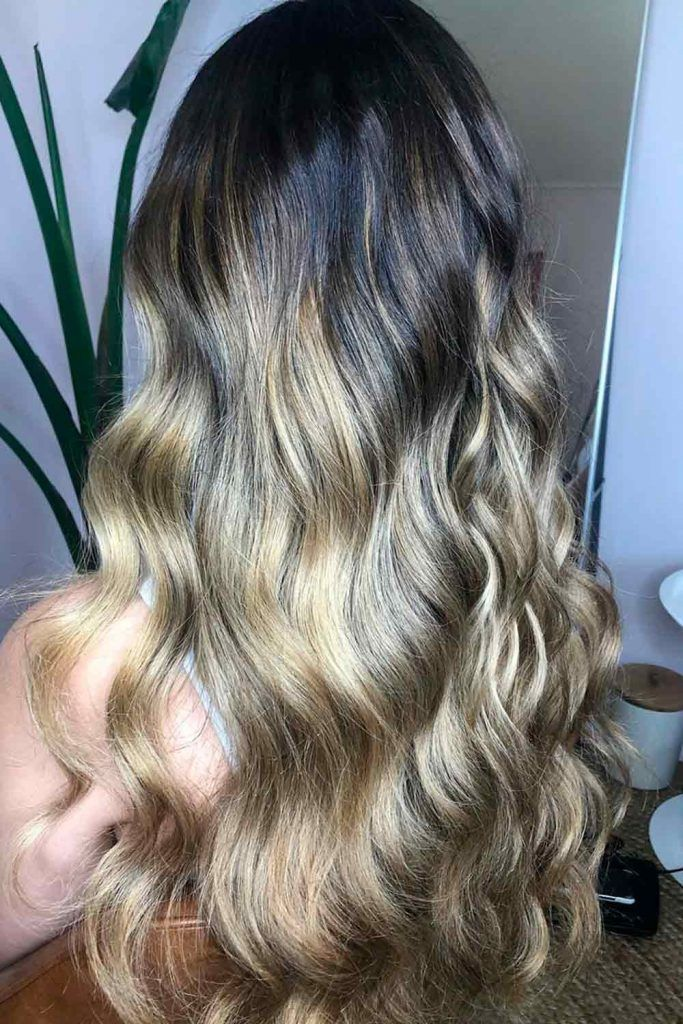 Black To Dirty Blonde Ombre