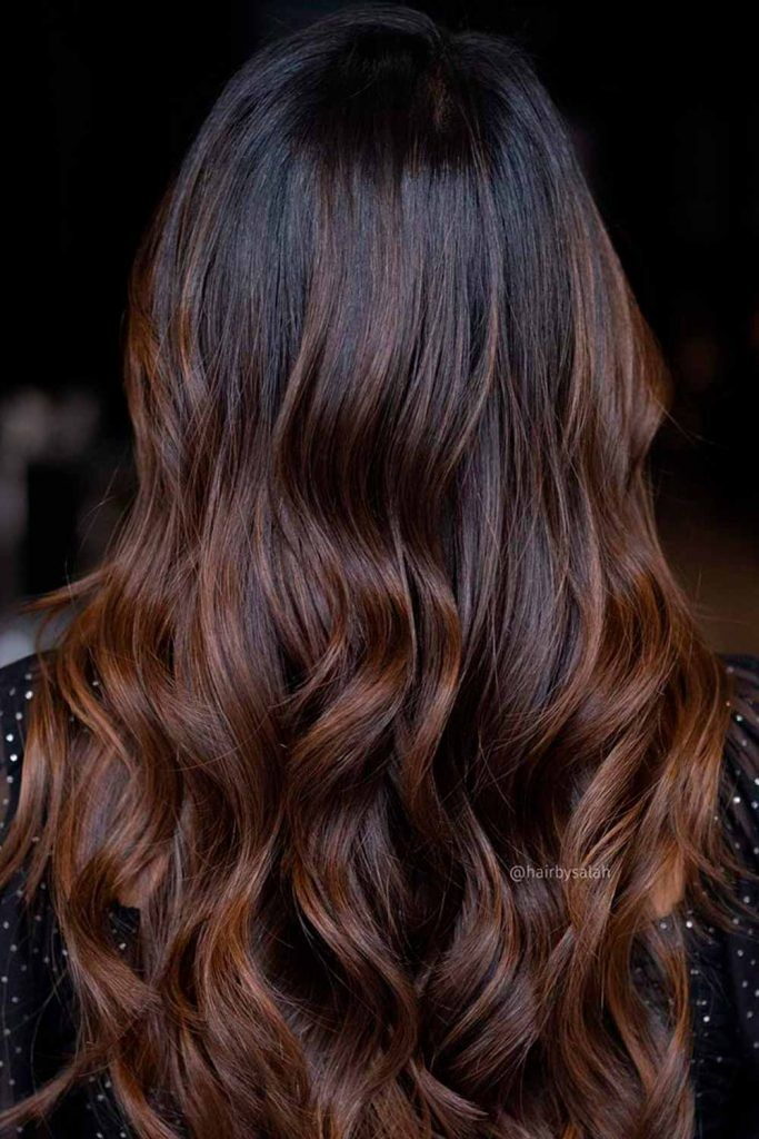 Black To Chestnut Brown Ombre